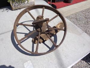 Vintage Heavy Cast Wheel