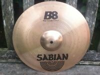 "Cymbals - Sabian B8 14"" Thin Crash Cymbal - Very Good Condition"