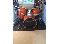 Ludwig Accent CS Custom birch rock drum kit with hardware