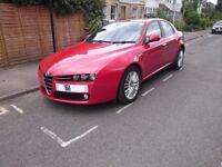 Alfa Romeo 159 2.0L turbo diesel (EURO5) Lusso Red black leather trim