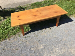 Pine handmade coffee table