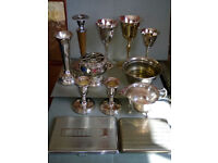 job lot of silver plated EPNS antiques