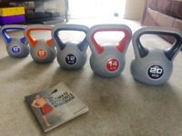 York® Vinyl Kettlebell set (incomplete but in very good condition)
