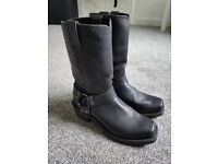 Grinders Motorcycle Boots. Black. Biker. Harley. Cruiser. EU41 RRP 120