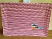 Large red & white Birdie trays Brand new