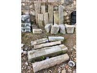 Granite lintels and steps