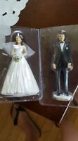 Bride and groom cake topppers