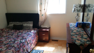 One furnished bedroom available for paying guests