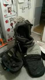 Silver Cross 3D travel system Pushchair.