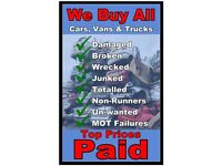 CASH PAID CARS VANS 4x4 WANTED
