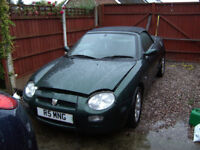 MG MGF CONVERTABLE FOR SALE