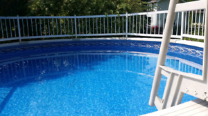 Deluxe 16 Foot Round/56 Inch High Salt Water Pool