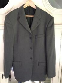 york 6600 weight bench. grey italian made suit jacket. york 6600 weight bench