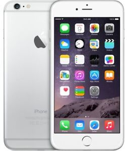 iPhone 6, silver and white