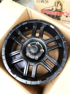 NEW 17INCH 5X127 5X5 ION MATTE BLACK JEEP RiMS