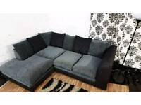 Black&grey corner sofa**free delivery**