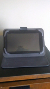"""Black web Universal 7"""" Leather Tablet Case Cover"""