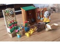 Rare Sylvanian Families Gardening Set