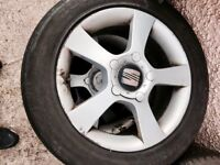 Seat lean alloys 5 x 112 , 205/55/16 tyre