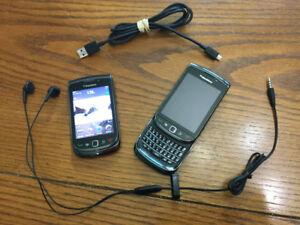 2x Blackberry 9800 Torch phones (2 for 1, just $50 for both!)