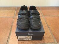 Boys School Shoes - Clarks - Black - ReflectAce Junior Size 13 H