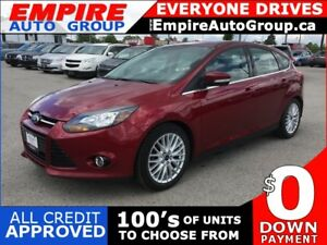 2014 FORD FOCUS TITANIUM * LEATHER * NAV * REAR CAM * 1OWNER * S