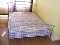 CAN DELIVER - JAY-BE LOW DOUBLE BED WITH MATTRESS IN VERY GOOD CONDITION