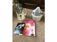 Popcorn & ice cream maker with instructions and recipes