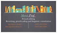 Merci Prof ! - French proofreading, translation and writing