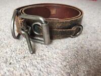 Men's leather Diesel Belt