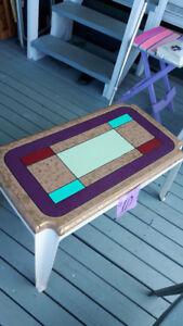 Plastic coffee table
