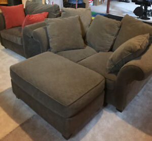 Couch set love seat chair and ottoman