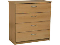 Collection Cheval 4 Drawer Chest - Oak Effect