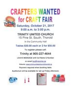 CRAFTERS WANTED - OCTOBER 21, 2017