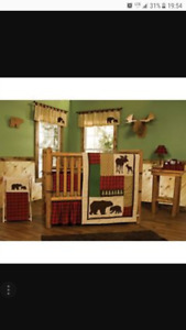 baby bedding in the wooda
