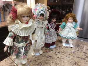 Beautiful collectible porcelain dolls