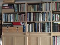 IKEA Billy bookcases in birch for sale.