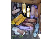 Women Indian leather flats shoes lot of 60 pairs new