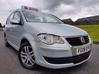 (FACELIFT) 2008 Volkswagen Touran SE 1.9 TDI SE 7 Seater, 6 Speed! Full MOT! FSH! 6 MONTHS WARRANTY!