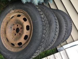 Pneus et roues hiver 15 po