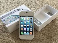 APPLE IPHONE 4S WHITE IN ORIGINAL BOX WITH CHARGER