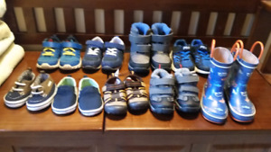 Boys shoes, sizes 3 months to size 8