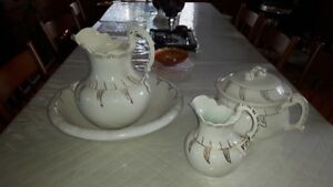 Ceramic Bowl&Pitcher Set