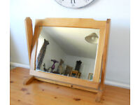 Tilting Dressing Table Mirror in Pine Frame - Prop from TV series Stella