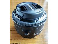 Yongnuo 50mm f/ 1.8 lens for Canon DSLR