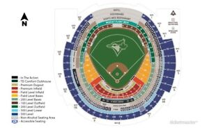 Season Tickets Toronto Blue Jays 100Outfields and 500 Levels