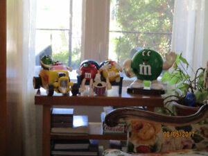 Collection of Vintage M&M Candy Dispensers