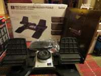 Saitek Pro Flight Cessna Rudder Pedals, Hardly Used, with Box and Drivers - for flight simulators