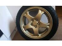 "16"" Subaru alloys with tyres"