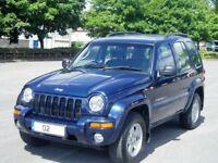 Jeep Cherokee 2.5Crd Ltd Edition. Full Mot.Full History. 1 Former Owner.82000 miles.Clutch&Belt Done